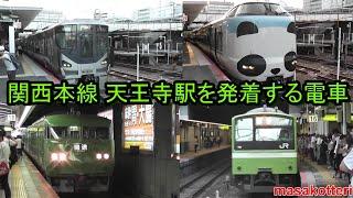 関西本線 天王寺駅を発着する電車(117系・201系・221系・223系・225系・323系・特急はるか、くろしお)