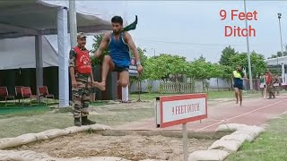 Indian Army Recruitment-Long Jump Test || #ArmyHighJump | #Rewari