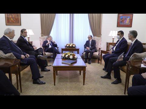 ԱԳ նախարար Արա Այվազյանն ընդունեց ԵԱՀԿ Մինսկի խմբի համանախագահներին