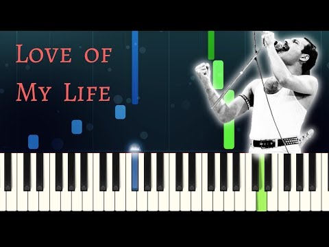 Queen - LOVE OF MY LIFE - Easy Piano Tutorial with Sheet Music thumbnail