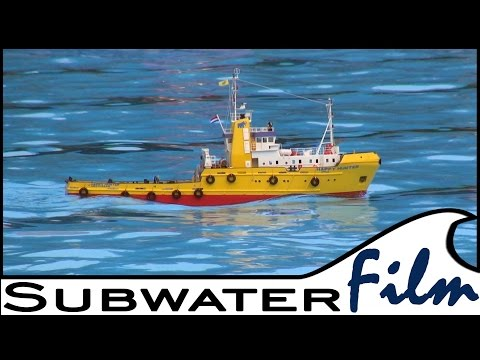 "robbe´s ""HAPPY HUNTER"" - DER rc Hochseeschlepper / THE one rc Offshore-Tug - Aukrug 2014"