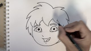 How to draw Diego ( Go Diego Go ) step by step - Things to Draw