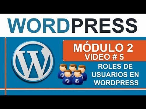 Roles y permisos de usuarios en Wordpress