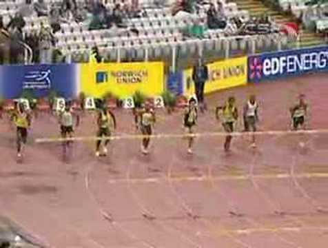 Liu Xiang of China wins 110-meter hurdles