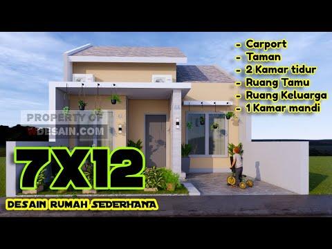 desain rumah sederhana tampilan simpel dan elegan ukuran