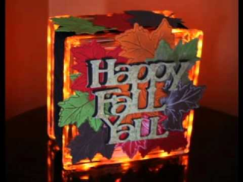 how to make glass block christmas crafts