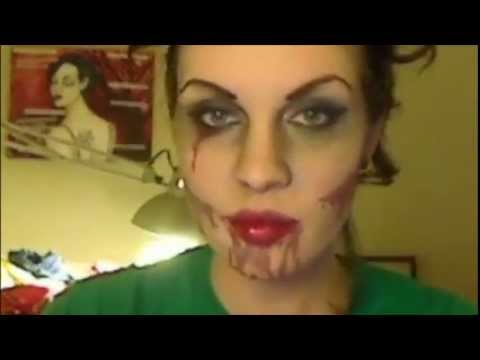 Zombie Make up tutorial : Dead Sexy Pin up - YouTube