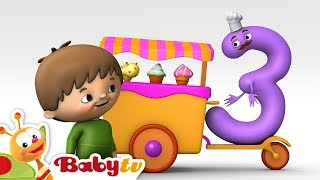 Repeat youtube video Counting with Charlie & The Numbers - Charlie meets Number 3 | BabyTV