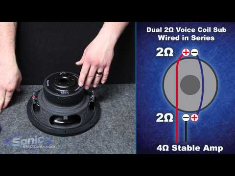 How to Wire a Dual 2 ohm Subwoofer to a 4 ohm Final Impedance | Car Audio 101