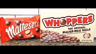 Maltesers Vs Whoppers – Blind Taste Test