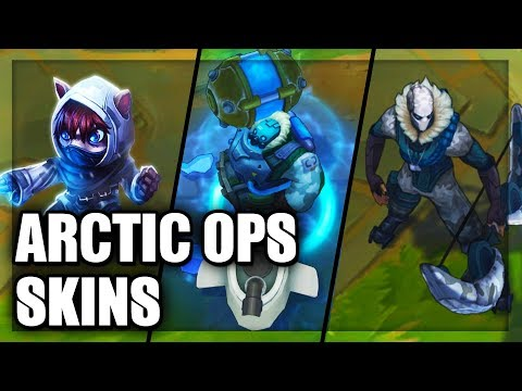 All Arctic Ops Skins Spotlight Varus Swain Gragas Kennen Caitlyn Volibear (League Of Legends)