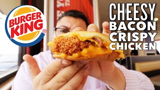 Burger King's New Cheesy Bacon Crispy Chicken Sandwich Review!