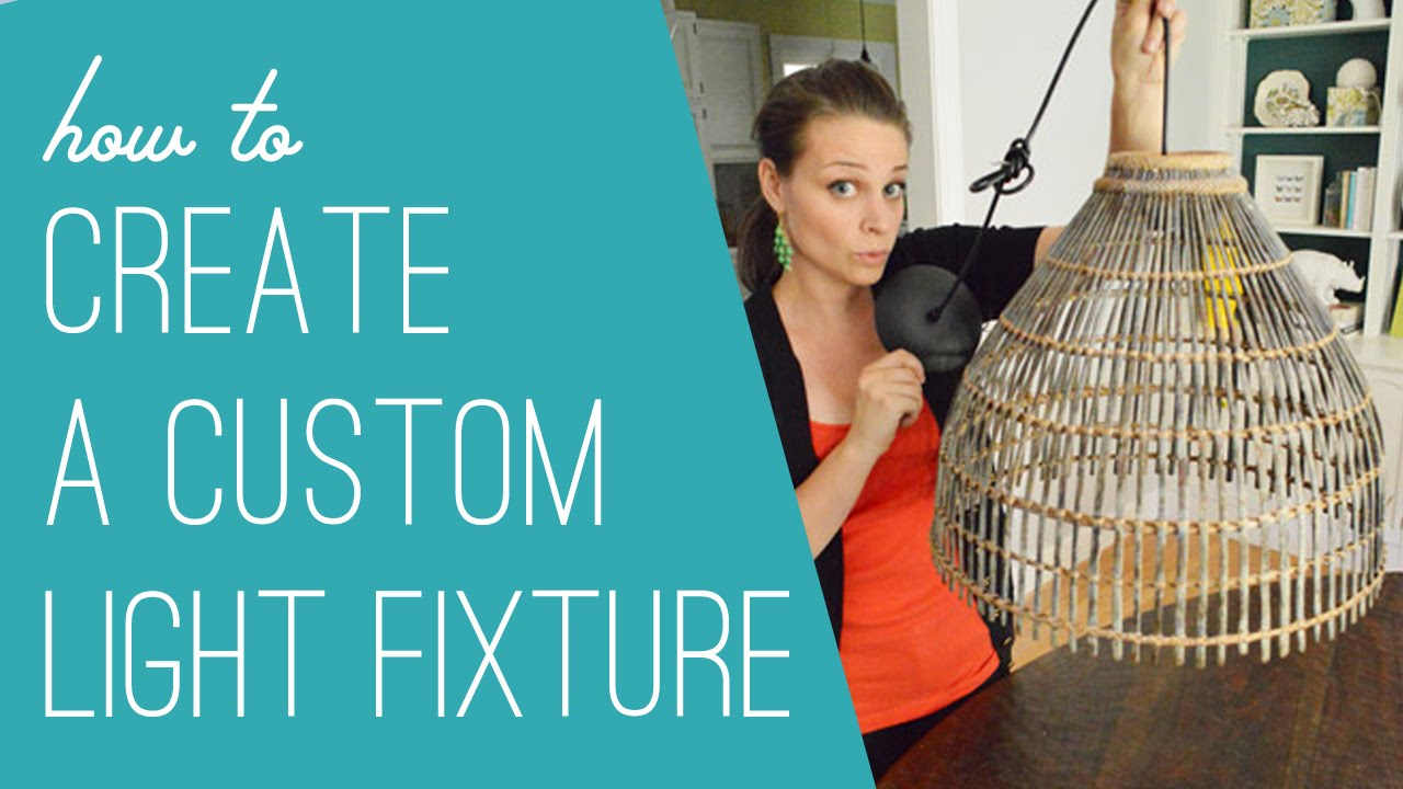How To Make A DIY Woven Light Fixture - YouTube Lighting Ideas On A Budget Christina Bell on