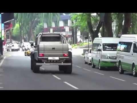 TMJ's Cars leaving Shang Ri La Hotel in Malaysia