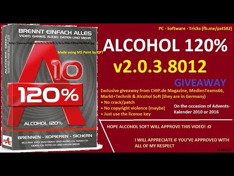 [ENG] Free license for Alcohol 120% version 10 Lifetime (No need to crack)
