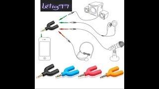 Splitter de Audio y micrófono para grabar y escuchar a la vez. Cámara, smartphone y grabadora