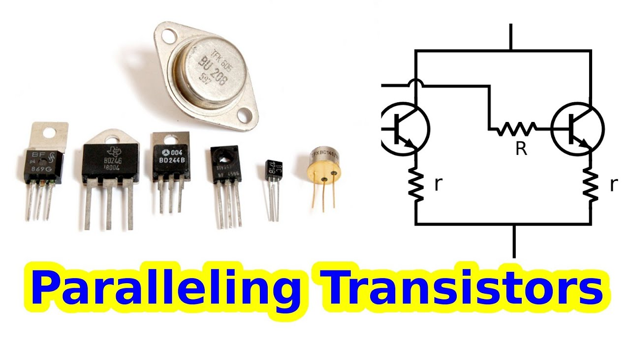 how to wire transistors in parallel youtube rh youtube com Voltage in Parallel Power MOS FET