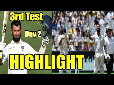 IND Vs AUS - 3rd Test Day 2 Highlight | India Vs Australia Cricket Score