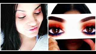 First Impression + Makeup Tutorial | Kylie Cosmetics Royal Peach Palette