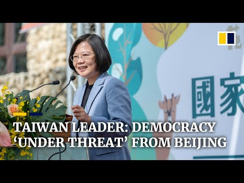 Tsai Ing-wen says Taiwan faces 'threat' from Beijing ahead of presidential election