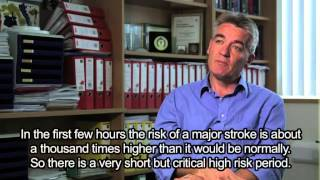 Professor Peter Rothwell talks mini-stroke (with subtitles) Thumbnail