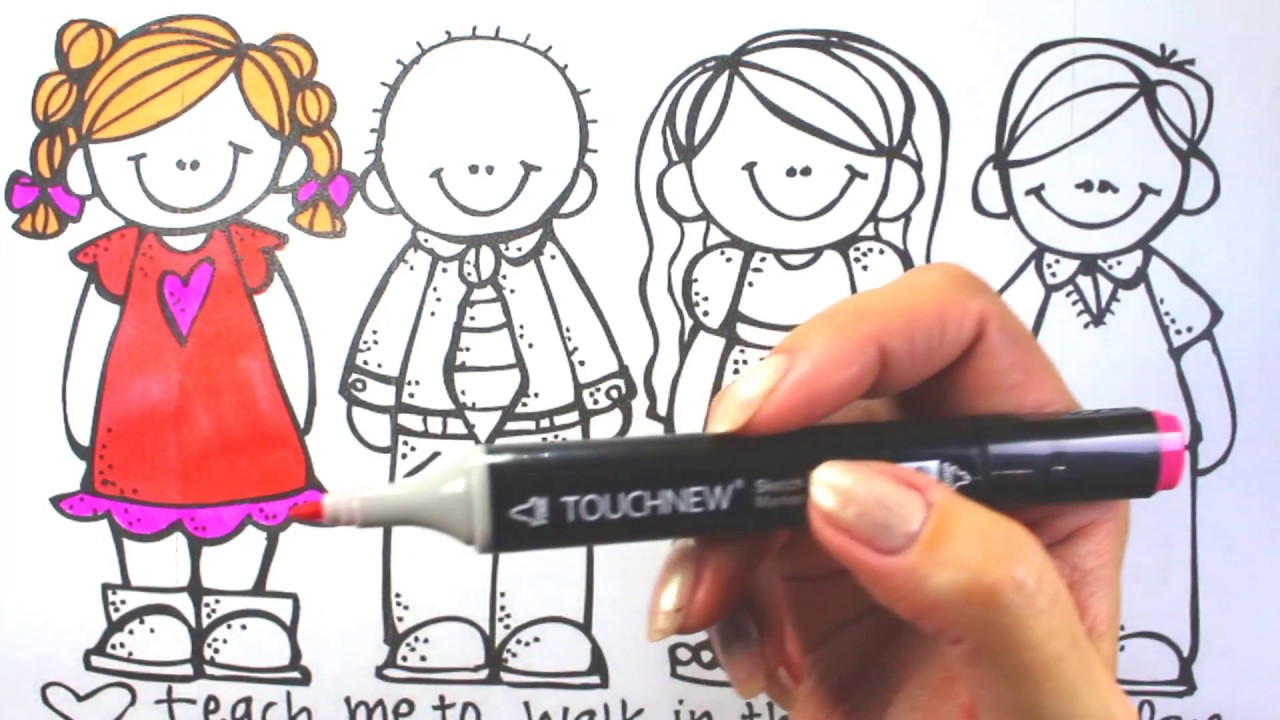 how to draw and color l best friends coloring pages l kids