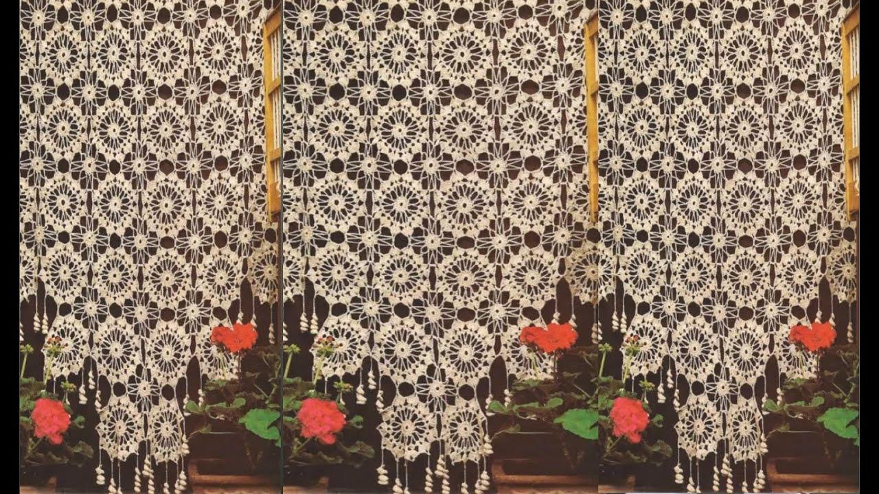 Hermosas cortinas tejidas a crochet youtube - Como coser cortinas paso a paso ...