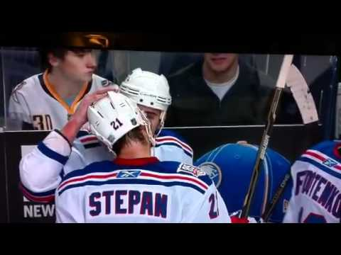 Hockey Players Kiss