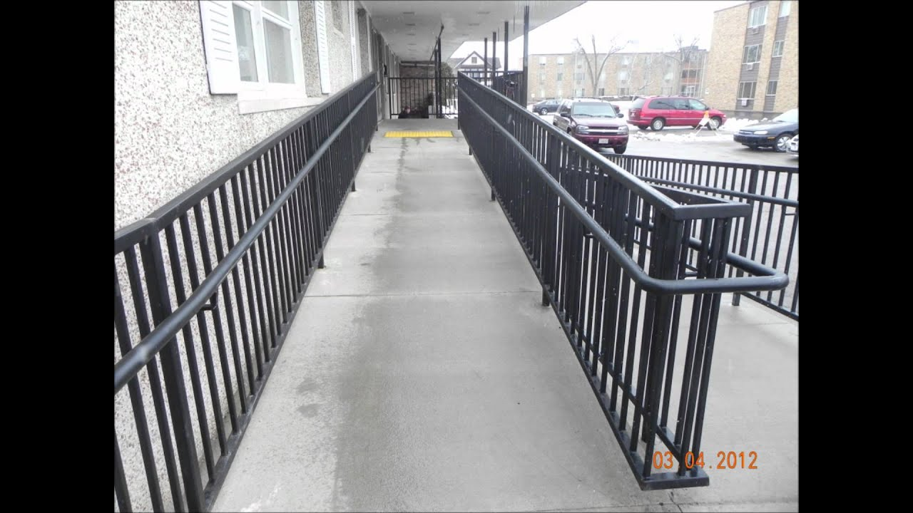 Handrail Handicap Ramp U0026 Staircase Railings In Kenosha Wisconsin   YouTube