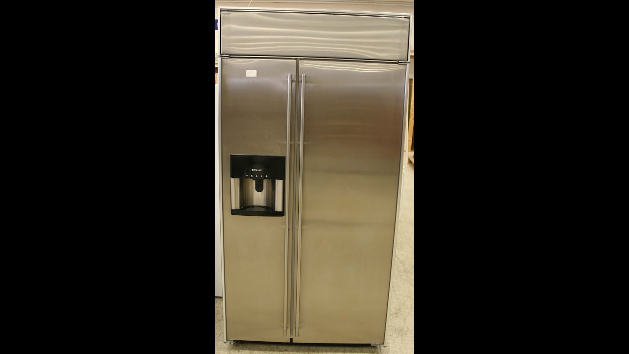 Jenn Aire 48 Inch Side By Side Refrigerator Youtube