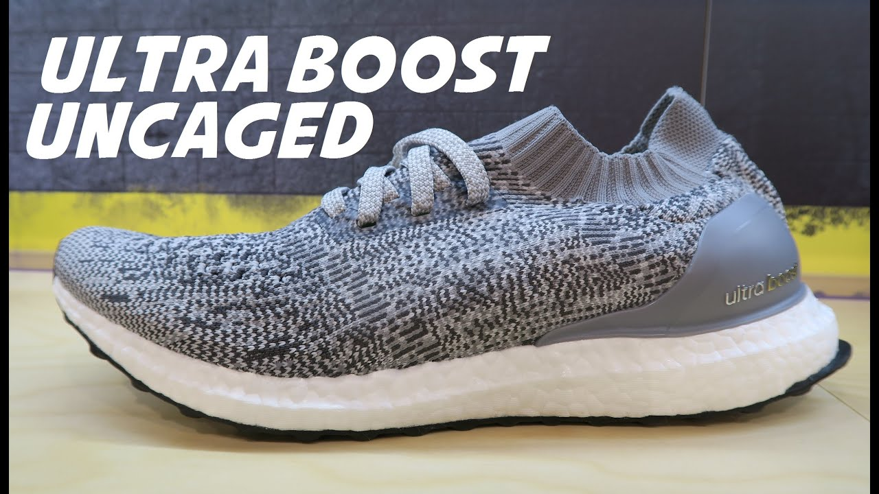 48b591a7a18c adidas Running Ultra Boost UnCAGED Grey Shoe Detailed Look - YouTube