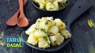सुखी आलू भाजी - Sukhi Aloo Bhaji, Dry Potato Sabzi by Tarla Dalal