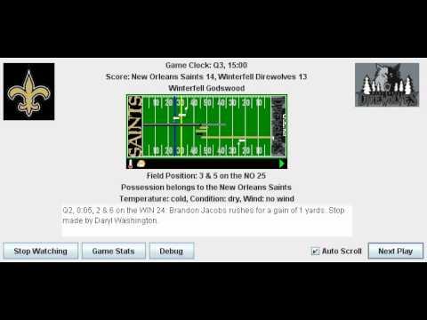 Week 5: New Orleans Saints (0-4) @ Melbourne Uni Royals (1-3)