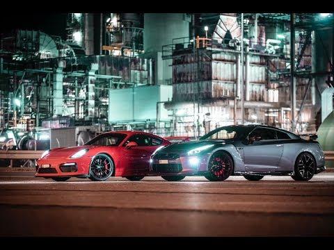 Supercars event in Switzerland at night // SUPERCAROFSWISS 06.09.2019