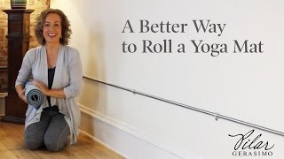 A Better Way to Roll a Yoga Mat
