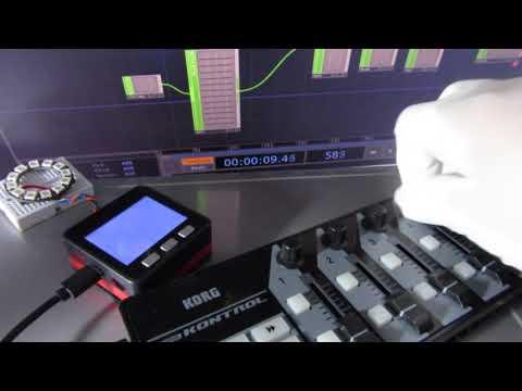 Repeat Test TouchDesigner Art-Net MIDI, M5Stack ( ESP32