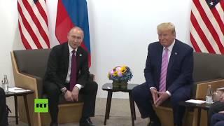 Primeras declaraciones de Putin y Trump antes de su reunión en el G20 [SUBS]