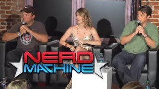 Conversation With Nathan Fillion, Adam Baldwin, & Jewel Staite - Nerd Hq (2011) Hd - Zachary Levi