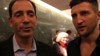 CARL FROCH MEETS TOM LOEFFLER FOR THE FIRST TIME & TELLS HIM 'HE'D TEAR GOLOVKIN TO PIECES AT 172'