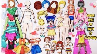 Đồ chơi thay trang phục cho Búp Bê giấy của chị An Pi - My all Papper Dolls