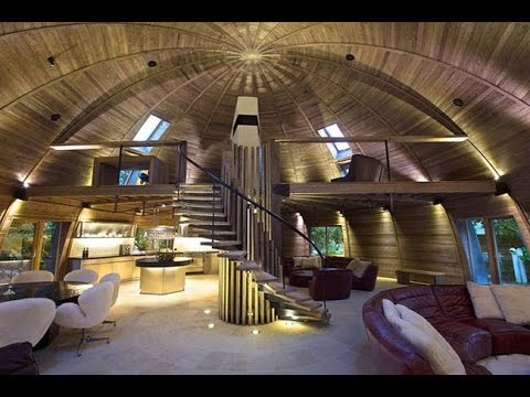 This energy efficient dome home in China is made from reclaimed wood