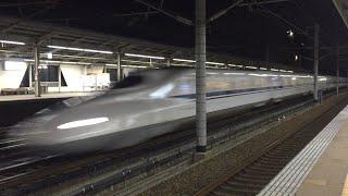 【HD】速すぎる!東海道新幹線 夜の三河安城駅高速通過集!Tokaido Shinkansen Mikawaanjou Station high speed pass Collection