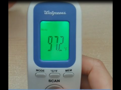 How To Read Temperature Inches Away From The Head!  Review For The Walgreens Non-Contact Thermometer