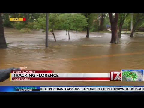Cape Fear River reaches flood stage in Fayetteville