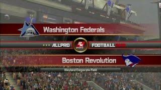 All Pro Football 2k8 - Boston Revolution Season - Week 1 vs Washington Nationals [Ep. 1]