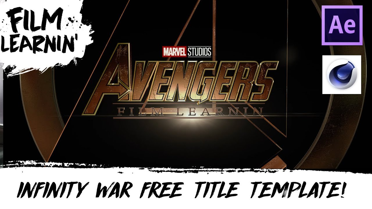 Avengers: Infinity War Free Title Template! | Film Learnin