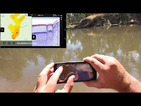 Deeper Pro+ Portable Fish Finder Creating A Bathymetric Map Of The Ovens River