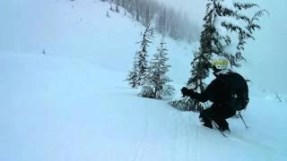 Alix backcountry skiing Bonney Moraines