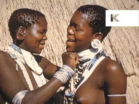 1950s, 1960s Zulu Women, Tribal Dress, Southern Africa