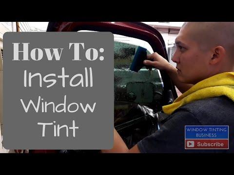 Window Tinting: How to install window Tint on a standard door